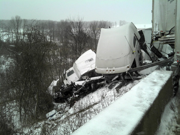 Interstate 80 Accident on 2/25/12. Mercer County Department of Public Safety.
