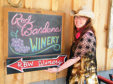Red Bandana Winery is owned and operated by Kathleen Hall (pictured above) along her husband, Mike.