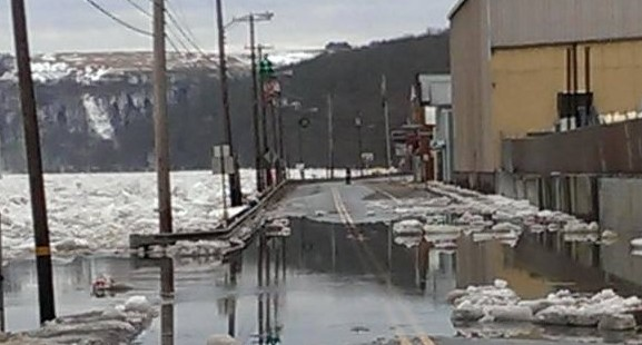 Update Ice Jam Creating Backflow Into Parker Route 268