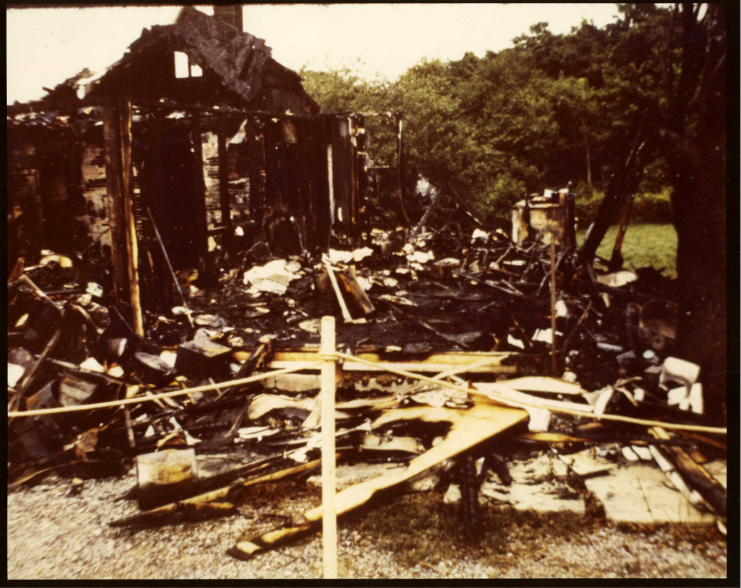 The 1625 Bamberger Road house in Harrisburg, PA after the fire fully consumed the house.