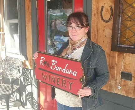 Kate Hall, owner of R** Bandana Winery.