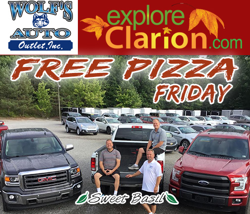 free-pizza-friday-Clarion