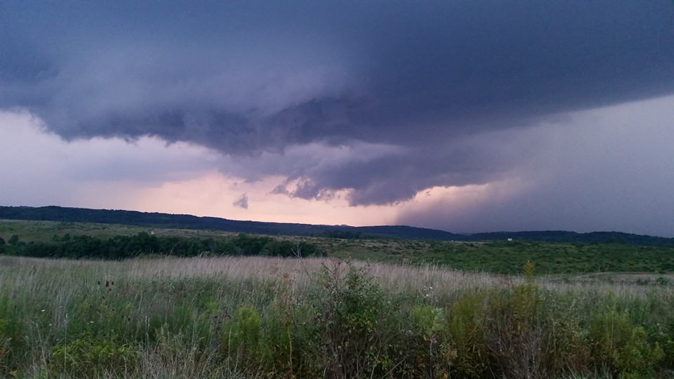 An evening storm rolling into Knox, Pa. Photo submitted by Jennifer McBride Rupp.