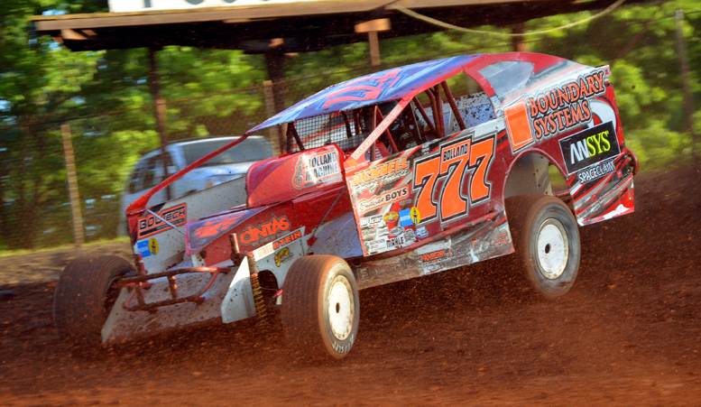 Kevin Bolland returned to victory lane for the first time in over three years Saturday at Sharon Speedway. Photo by Rick Rarer