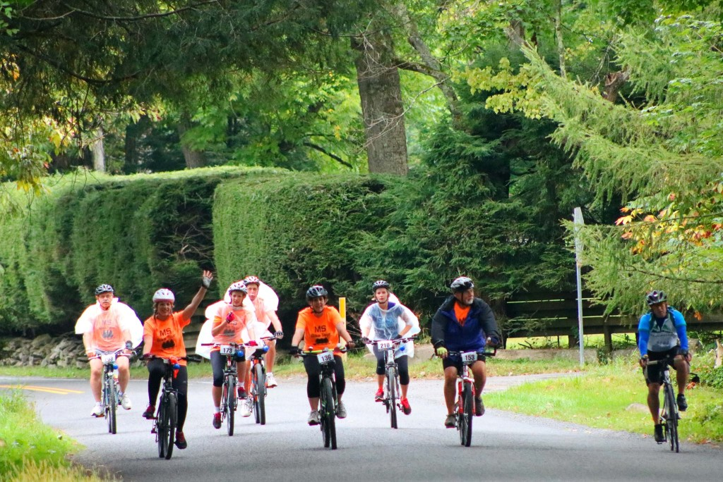 Bike MS event on September 17 at Cook Forest. Photo courtesy of Pale Whale Canoe Fleet.