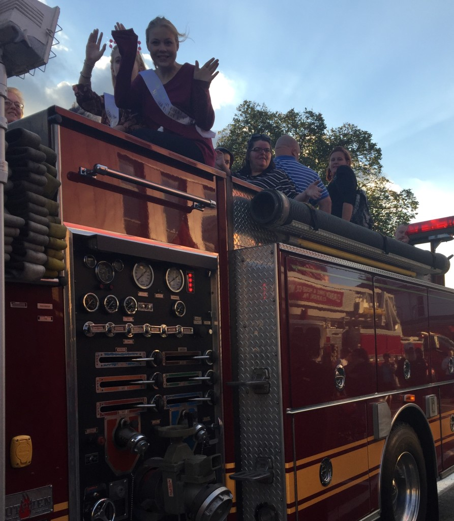 Autumn Leaf Festival-goers enjoy fire truck rides offered by Clarion Fire and Hose Company #1 on September 28, in downtown Clarion.
