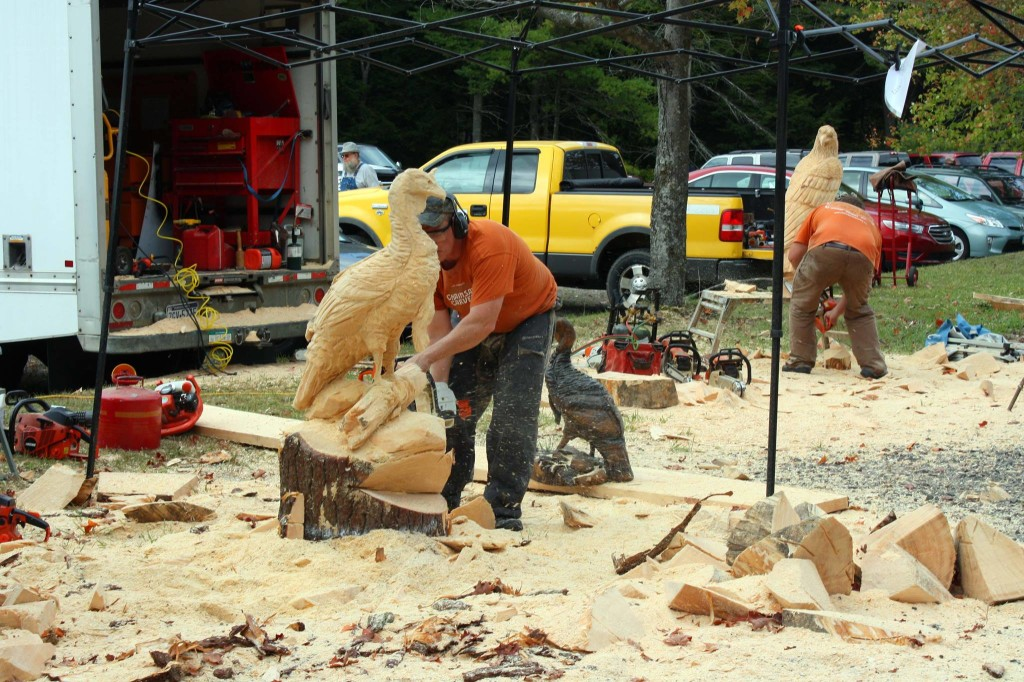 Mega rock weekend guide chainsaw carvers round up