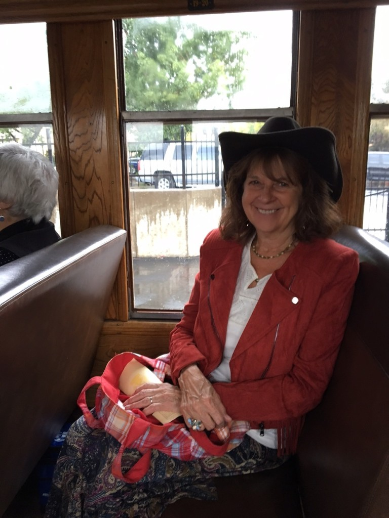 """Ruthie Niederriter enjoying a train ride (with her husband Donnie), traveling from Durango, Colorado, to Silverton, Colorado, where they toured """"Old West Town."""" Photo submitted by Donnie Niederriter."""