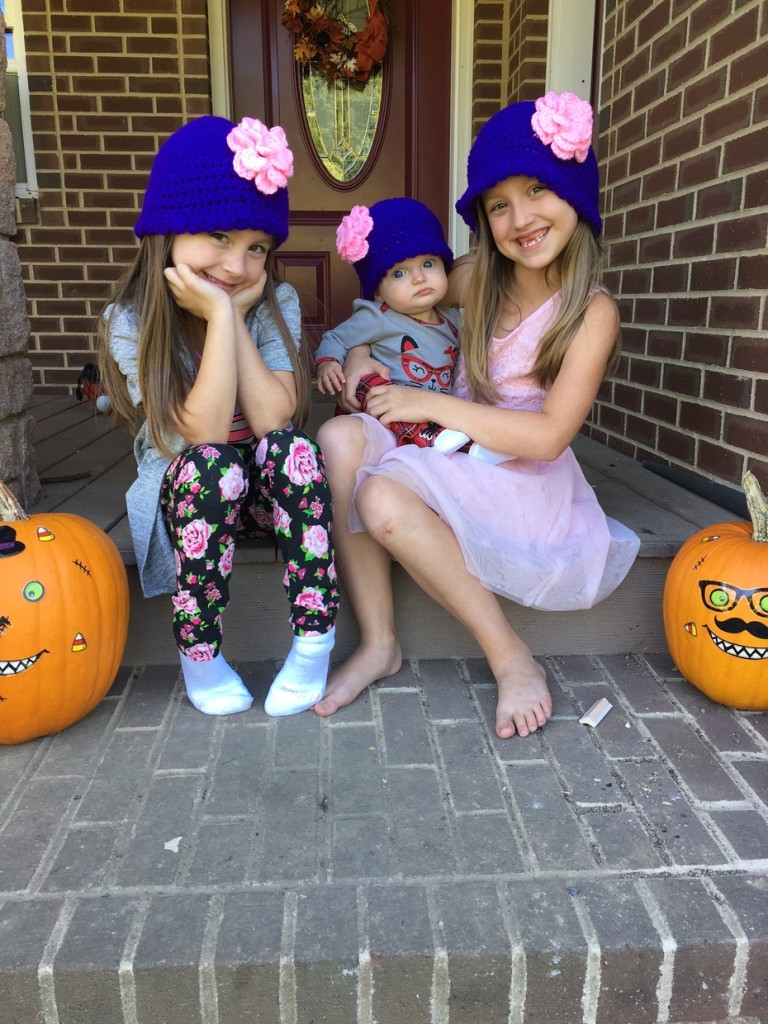 Nolf girls prepping for cold weather!  Photo by Jenna Nolf; hats by Stacy Matthews Lambert.  Submitted by Grandpa - Larry Young.