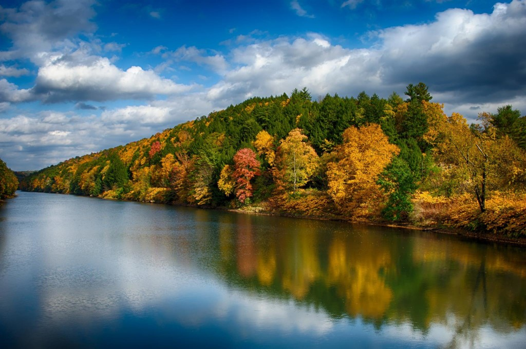 An autumn afternoon on the Clarion River as seen from the Huckleberry Ridge Road Bridge. Photo courtesy of  John McCullough Photography.