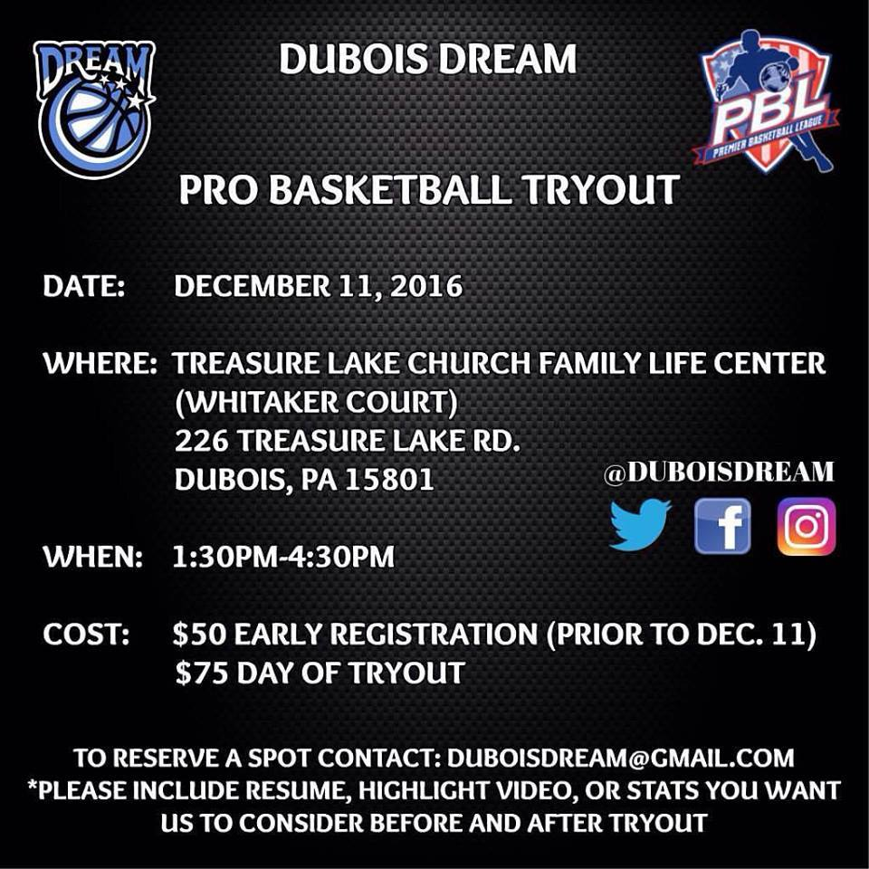 DuBois Dream Tryouts