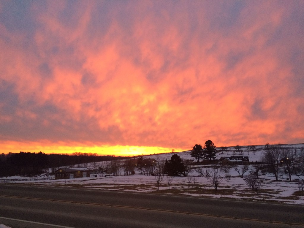 Fryburg sunset submitted by Gary Winger.