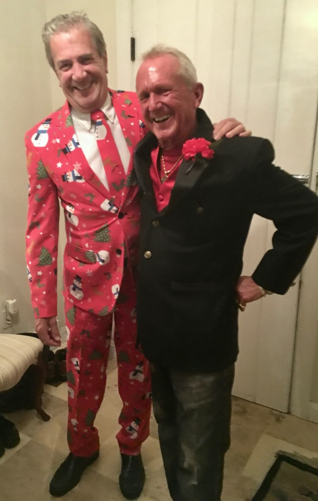 Rotarians Rick Goble and Kent Pope at the annual Clarion Rotary Christmas party.