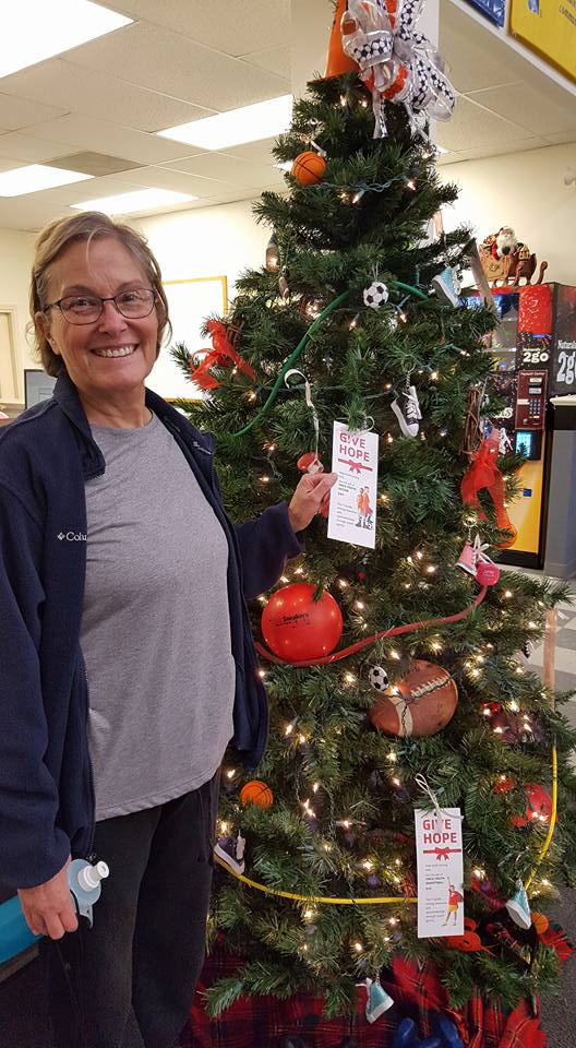 """""""Beth told a wonderful story of her grandson participating in soccer from age five through his freshman year of high school. She was the first to give hope to Clarion County youth in 2016.""""  Photo courtesy of Clarion County YMCA."""