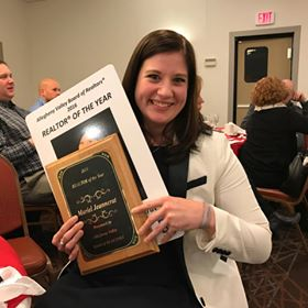 Mariel Jeannerat, of Coldwell Banker Burns and Burns Realty, received award as Realtor of the Year.  Submitted by Mary Amanda.