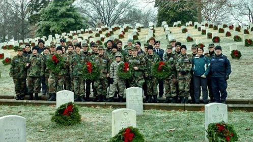 Clarion Civil Air Patrol placing wreaths at Arlington National Cemetery. Submitted by Noreen Allen Shirey.