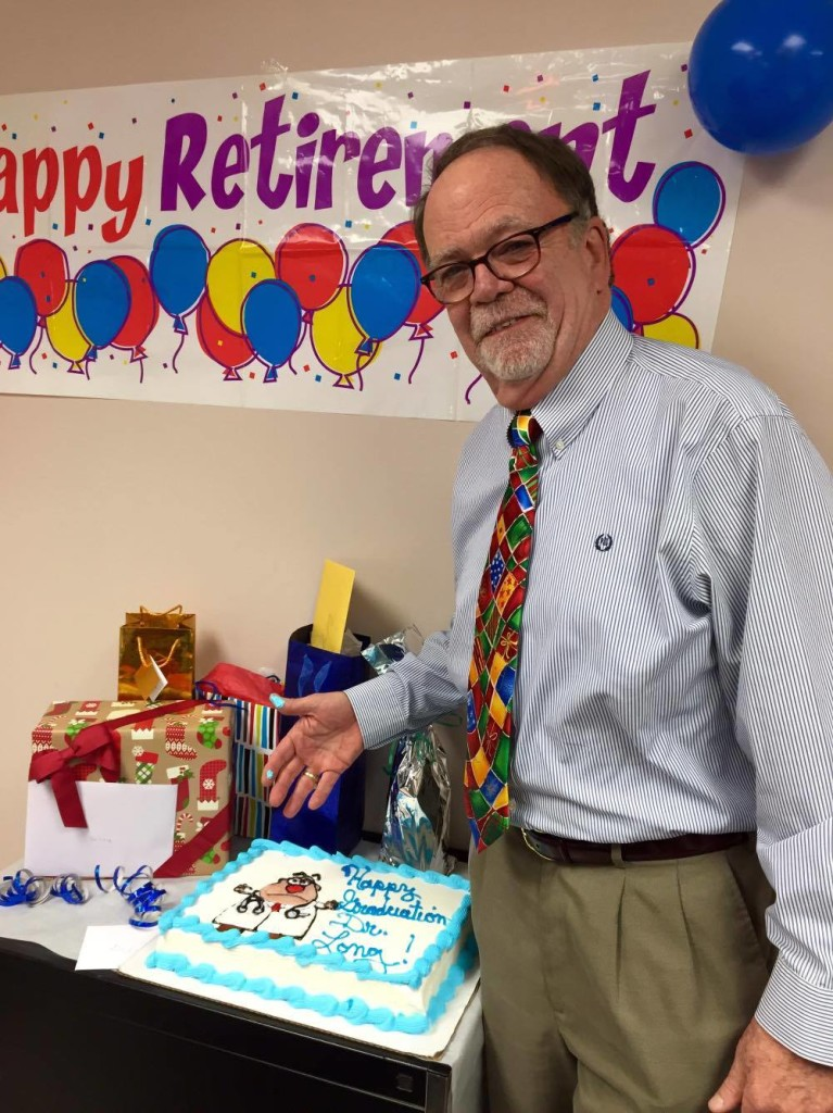 Dr. Brenton V. Long retired (on Thursday) after practicing for 36 years!  Submitted by Nicole Carroll McLaughlin