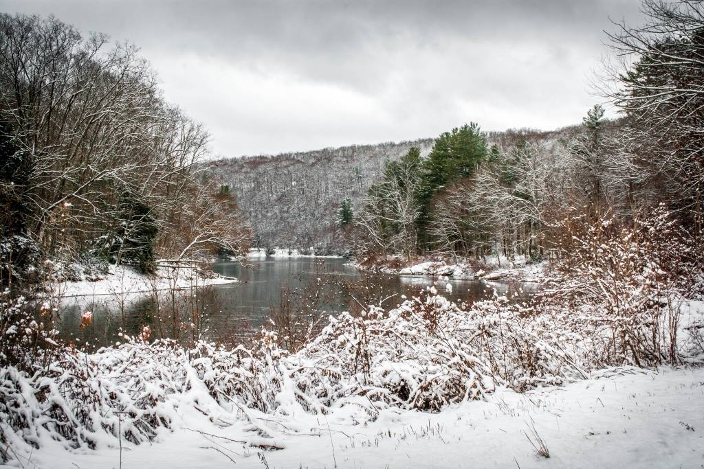"""The Clarion River in a blanket of fresh snow."" (January 8, 2017) Photo courtesy of <a Mountain Man Photography."