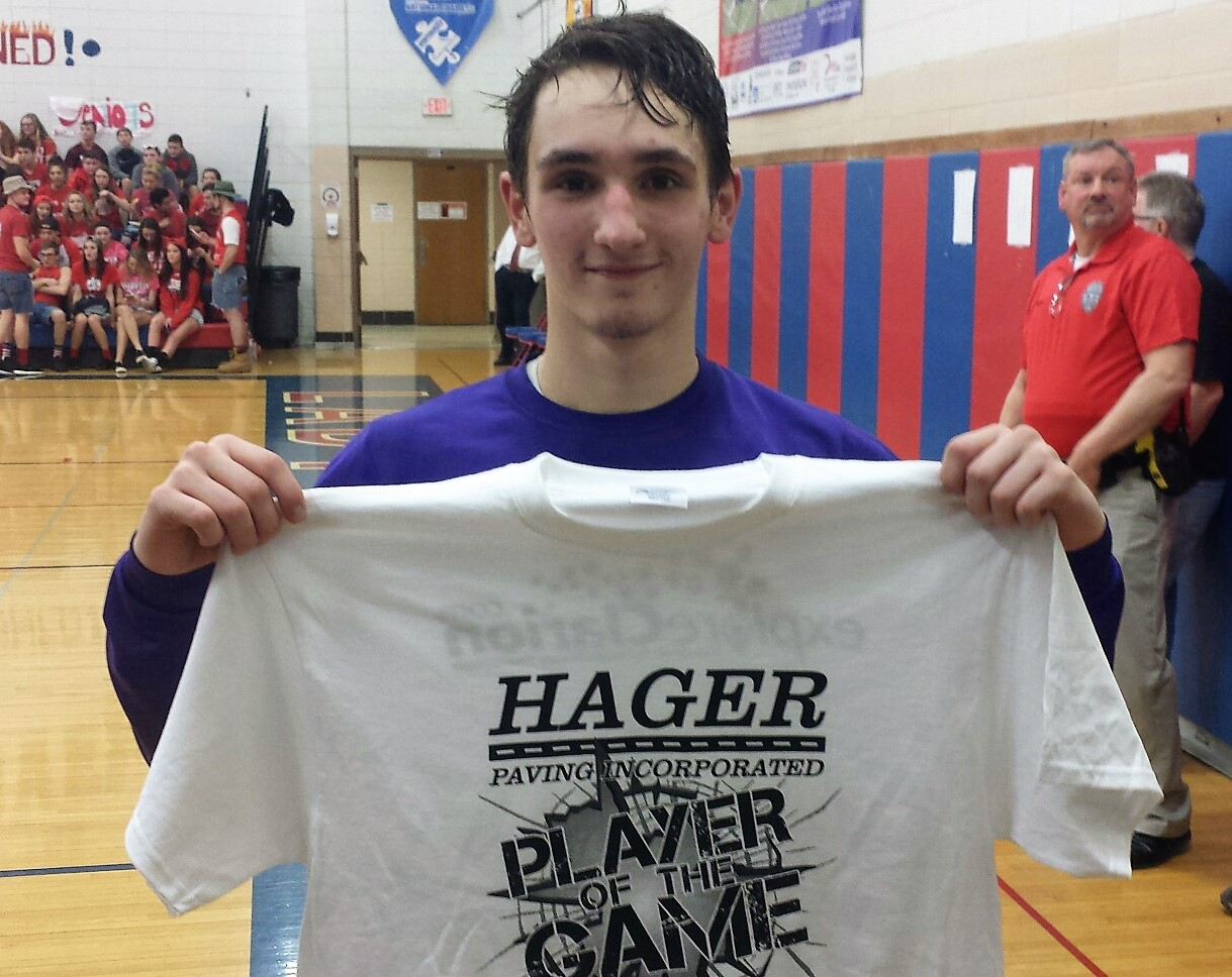 Chase Schmader Hager Paving Player of the Game
