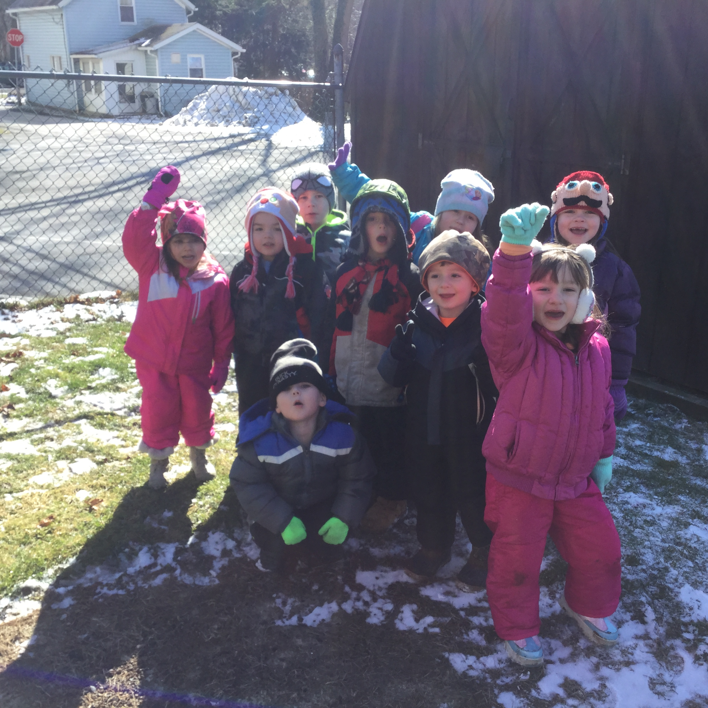 """Clarion Head Start students enjoyed the warm winter weather by having a """"Snow Day.""""  Submitted by Crystal Tharan."""