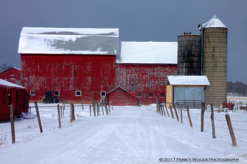 Amish farm in Clarion County. February 9 2017. Photo courtesy Penn's Woods Photography.