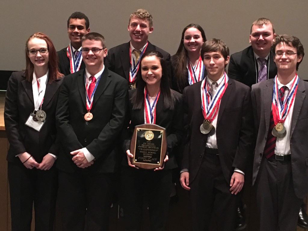 clarion-limestone academic decathlon team