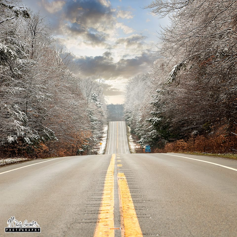 Rusty Glessner Photography Like This Page · February 3 ·    HIghway 66 through the Allegheny National Forest, Forest County.  Photo courtesy Rusty Glessner Photography.