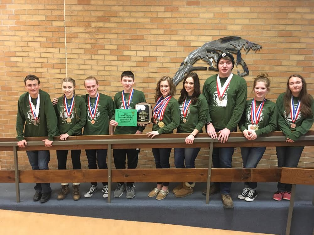 north clarion academic decathlon team