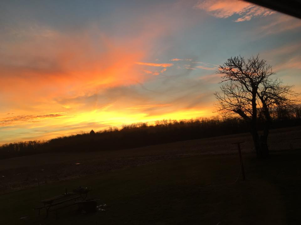 Sunset near Leeper. Submitted byTabitha Bowen.