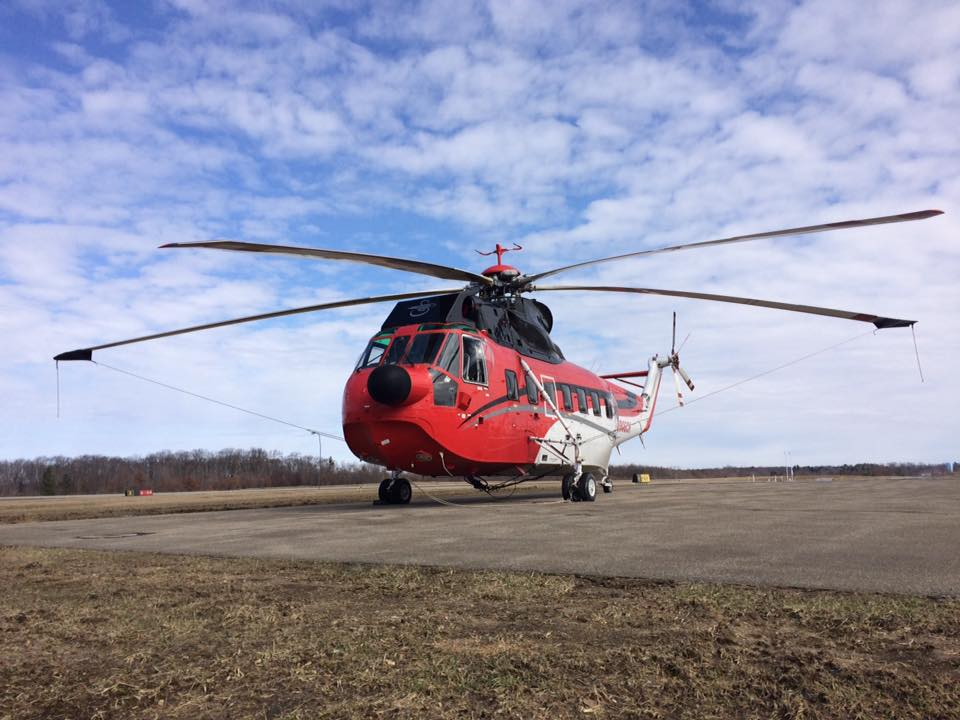 Sikorsky Sea King on March 10, 2017.  Photo courtesy of Clarion County Airport.