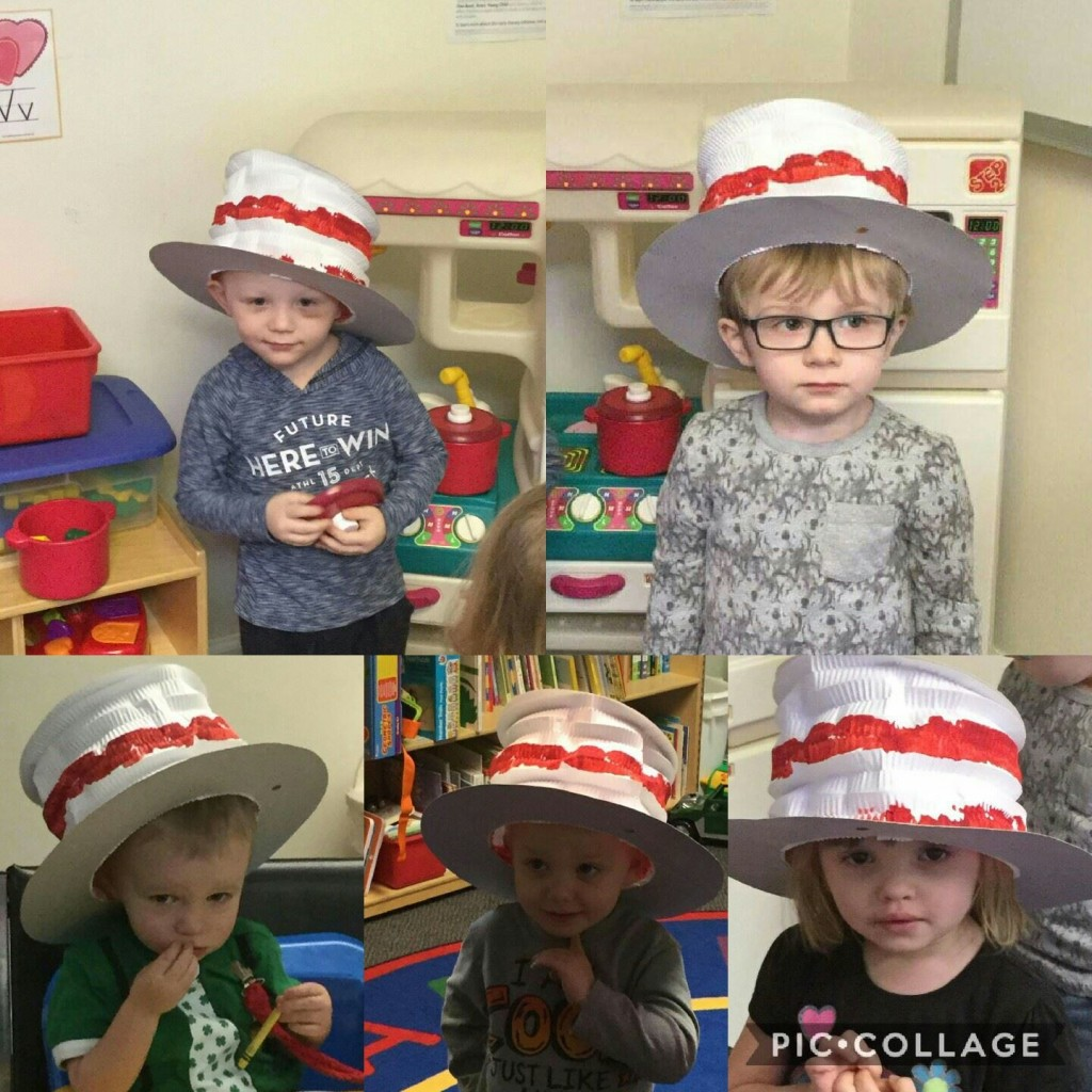 Children at the Clarion Family Literacy Program celebrating Dr.Seuss' birthday.  Top left to right - Bo and Weston; Bottom left to right - Gannon, Luke, and Tayla. Submitted by Haliegh Lynn.