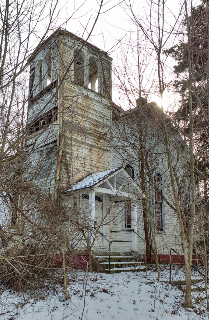 Abandoned church in Eddyville, Pa. Photo by Tammy Domiano-Christy.