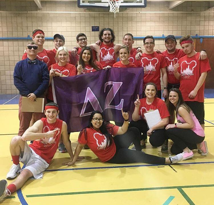 For 2017 Greek Week, the fraternities and sororities focused on Greek unity by being paired up together on teams. Featured above are the winners of Thursday night's wiffle ball game, SigEp Clarion and Delta Zeta Clarion, March 27, 2017.  Photo courtesy Clarion University of Pennsylvania.