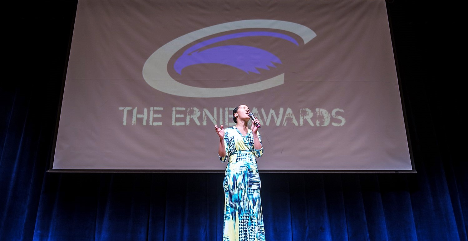 """Brana Hill singing at the """"Ernies"""""""