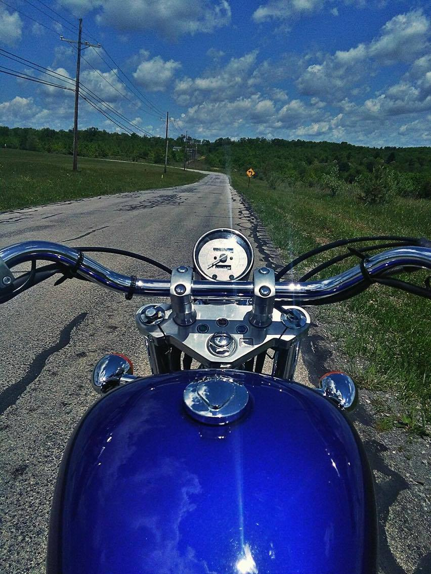 Beautiful day to ride after all the rain! Memorial Day, May 29, 2017. Pump Station Road - near Anchor Village, Shippenville, Pa.  Photo submitted by Corry Matthews.
