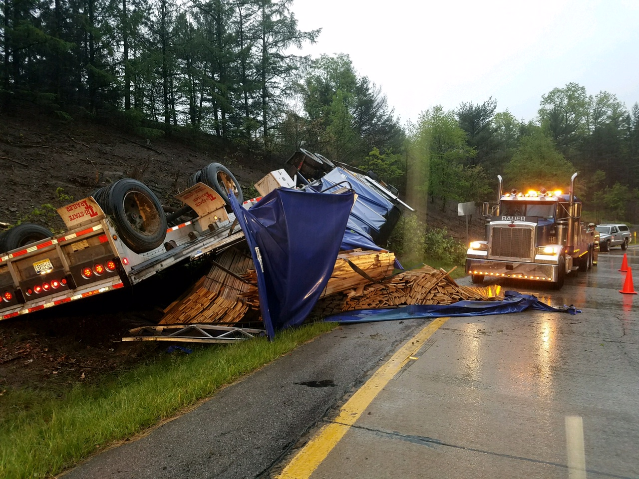 UPDATE: I-80 East Ramp to Exit 60 Reopens Following Tractor-Trailer