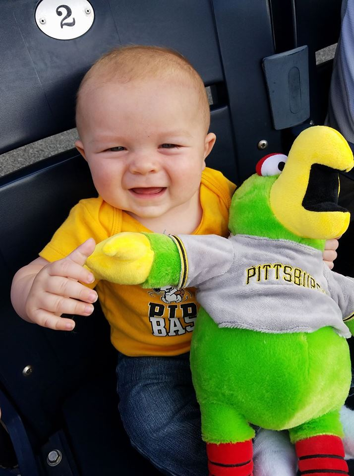 Ashton Graham celebrated turning 6 months old by attending his first Pirates game! Ashton is the son of John and Kelly Graham, of Kossuth. Photo courtesy Kelly Graham.