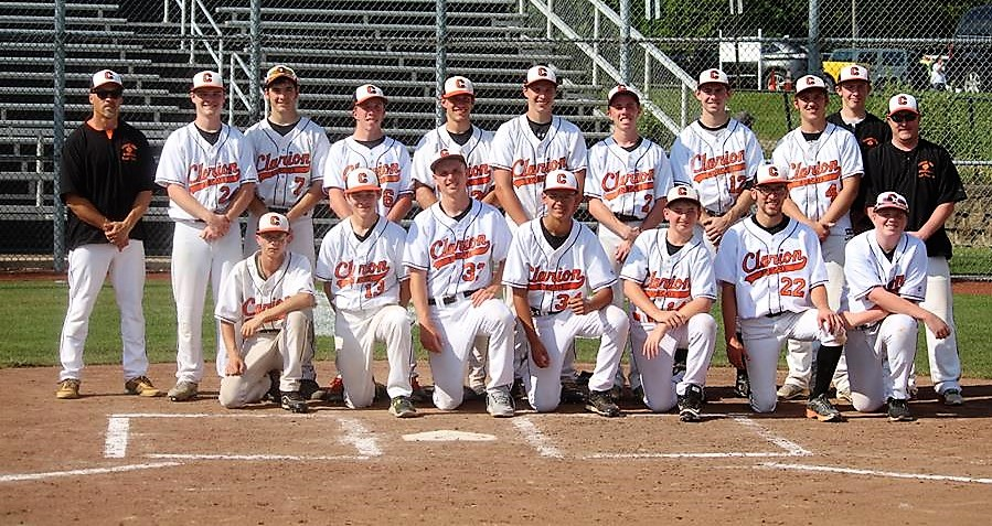 Clarion baseball team after PIAA semifinal win