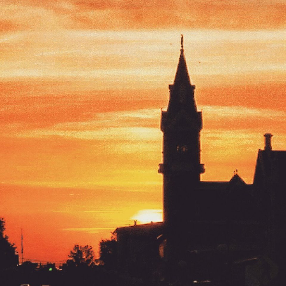 The sunset from Main Street, Clarion. Photo submitted by Kevin Heasley.