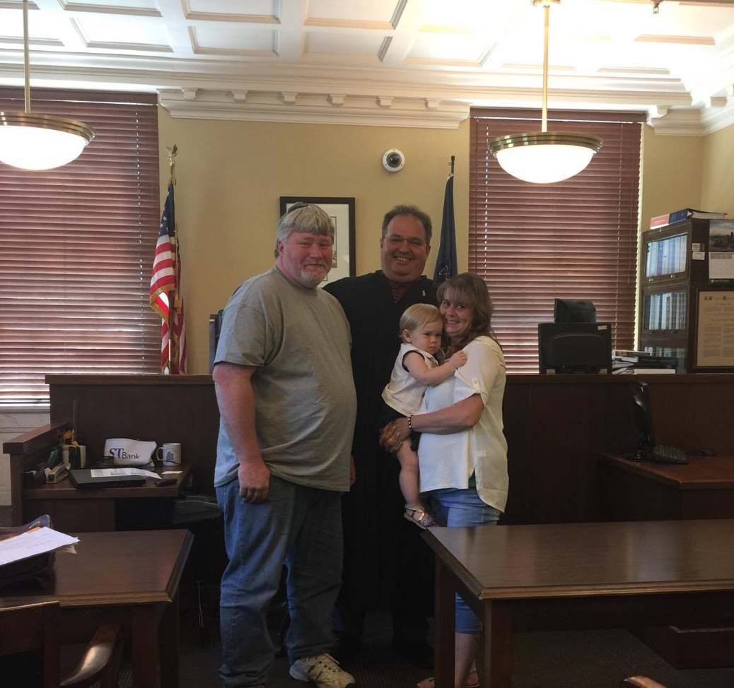On June 9, 2017, in the Honorable Judge Foradora's courtroom, the adoption of Annabelle Graham was finalized. Her new parents Paula Briggs and Stephen Graham were present along with numerous other family members.