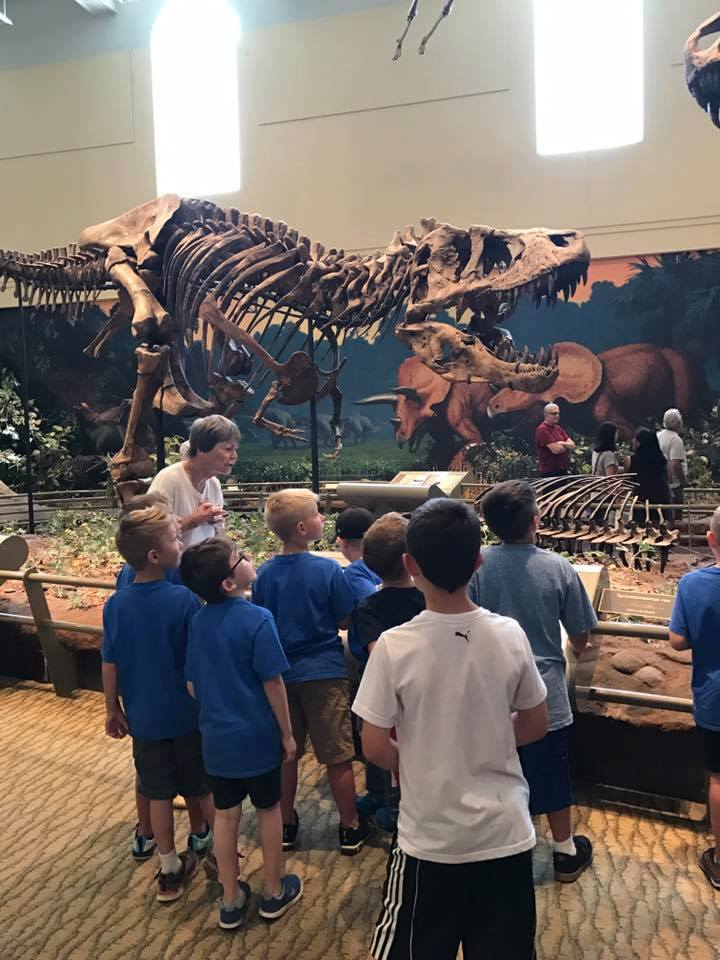 The YMCA Summer Day Camp went on a field trip to the Carnegie Museum of Natural History. Photo courtesy Clarion County YMCA.