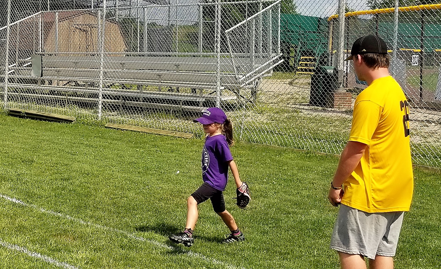 The Potter Pirates also held a baseball clinic at Weaver Park for area children.