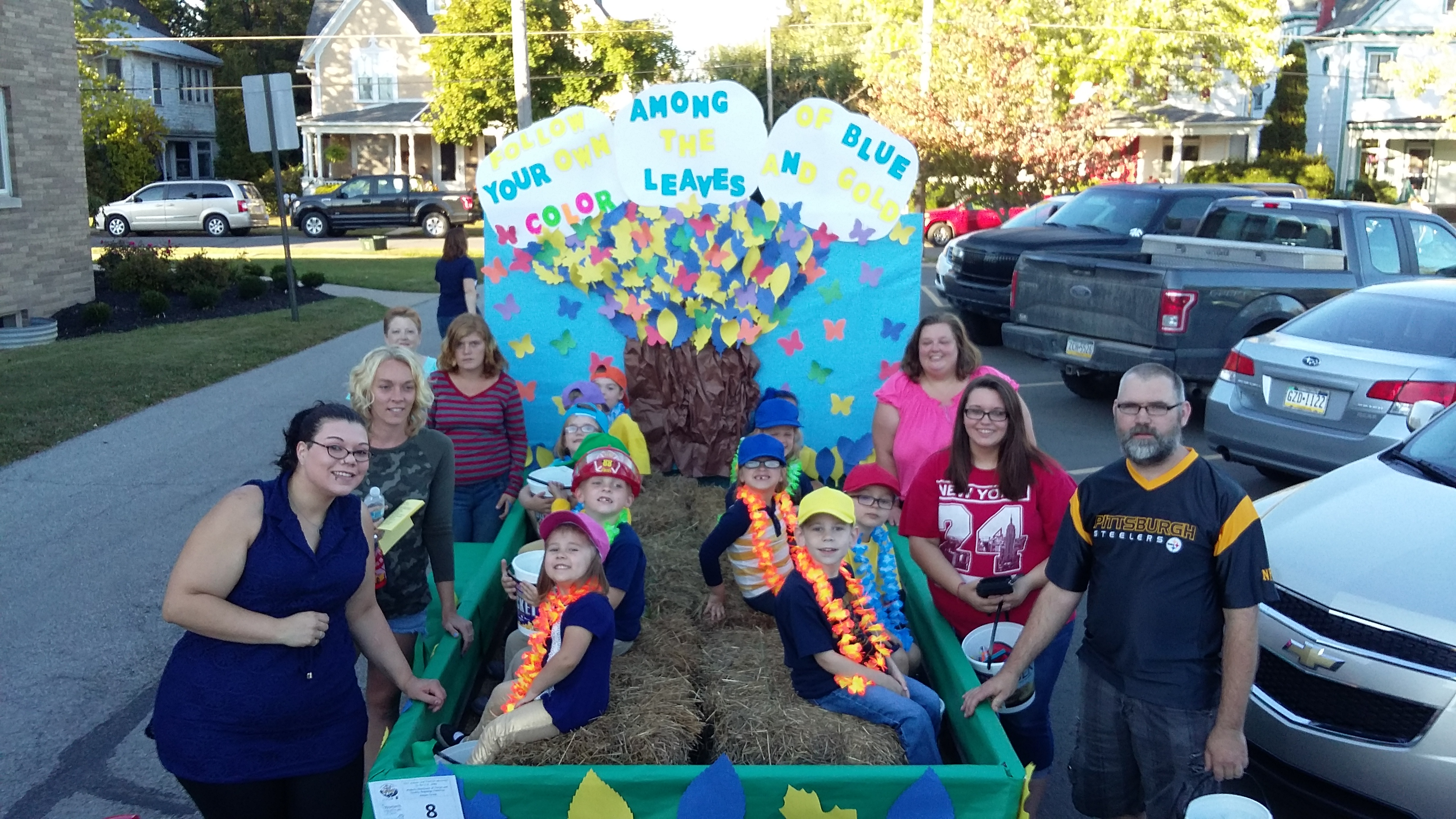 The students in the Clarion Head Start classroom participated in the ALF Kiddie Parade. Their float won 2nd place. Photo courtesy Clarion Head Start.