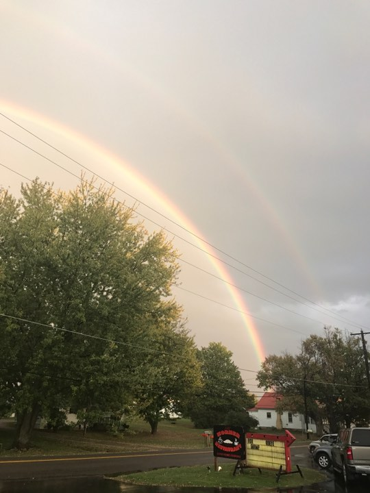 A double rainbow in Rimersburg on September 29. Photo submitted by Tyler Painter.