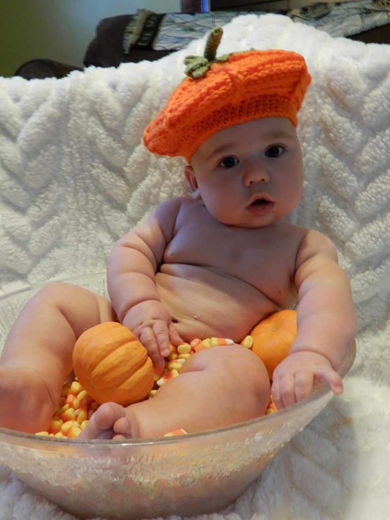 Keller Ditz posing for his mom during a Halloween photo shoot. Keller is the son of Misty and Jerad Ditz of Tionesta.