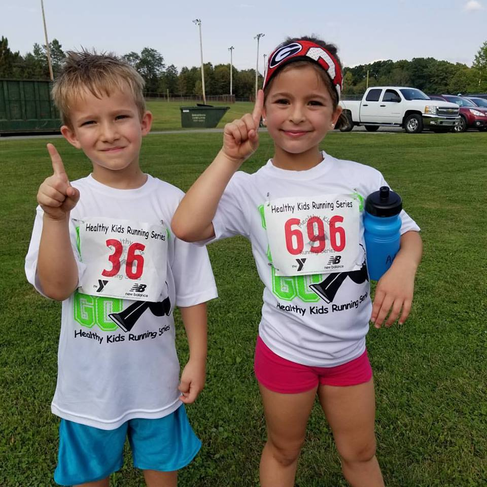 Future Cross Country/Track & Field stars are being made at the Clarion County Park. Photo Courtesy  Clarion County YMCA
