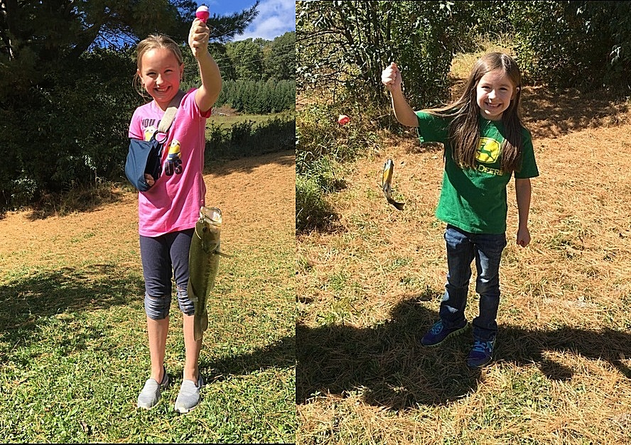 "Kaylee and Ella Nolf, fishing with grandpa!""  Submitted by Larry Young"