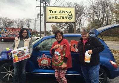 Clarion PUPS makes donation