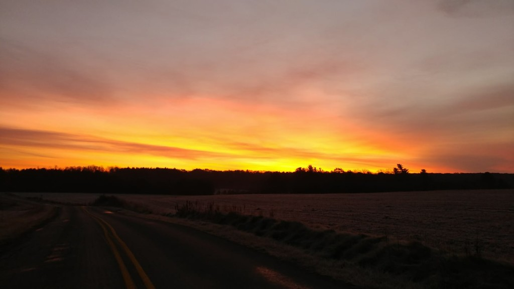Sunrise on Sunny Drive Tylersburg. Photo submitted by Courtney Kirkwood.