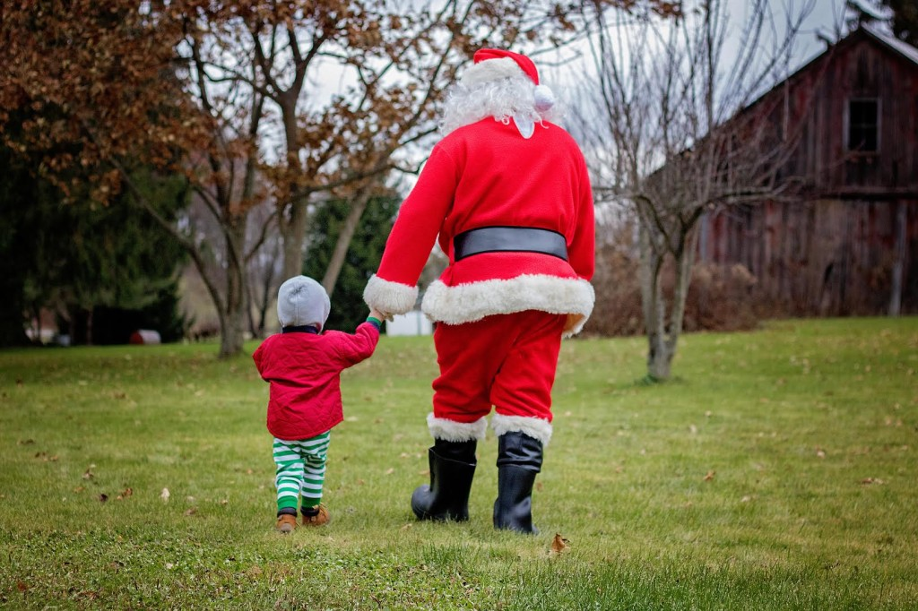 Haden Nicklin and Santa Out For A Walk Talking About What's On His Christmas Wishlist! Submitted by Craig Siegel.